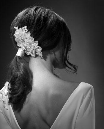 Dietrich Headpiece. Luxury Bridal Wear. Hårpynt. Brud. Gudnitz Copenhagen
