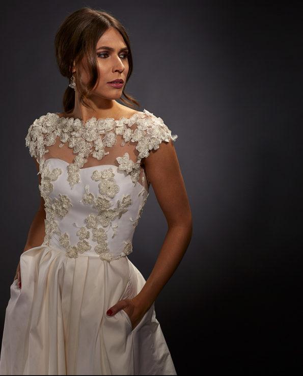 Sophia Weddingdress with Bennett Top. White Label. Luxury Bridal Wear. Gudnitz Copenhagen