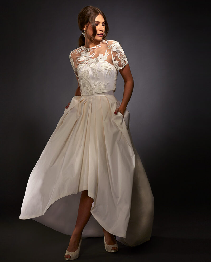 Sophia weddingdress with Rogers Top. Gudnitz Copenhagen