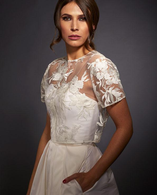 Sophia weddingdress with Rogers Top. Gudnitz Copenhagen