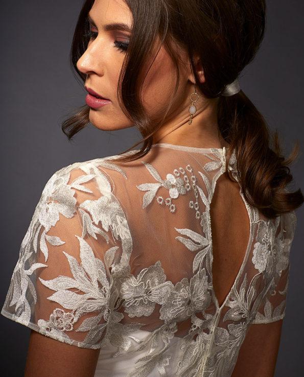 Sophia with Rogers Top. Wedding top. Wedding accessories. Luxury Bridal Wear. Gudnitz Copenhagen