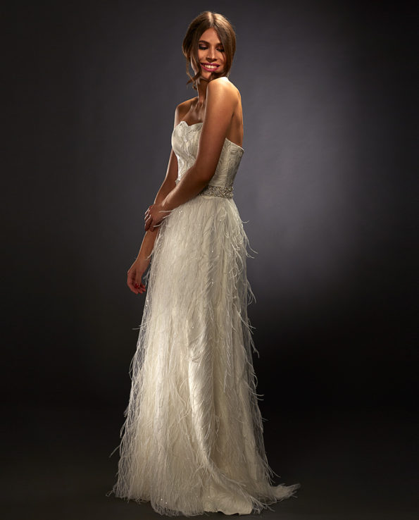Sasha White Label with Hepburn Wedding Sash