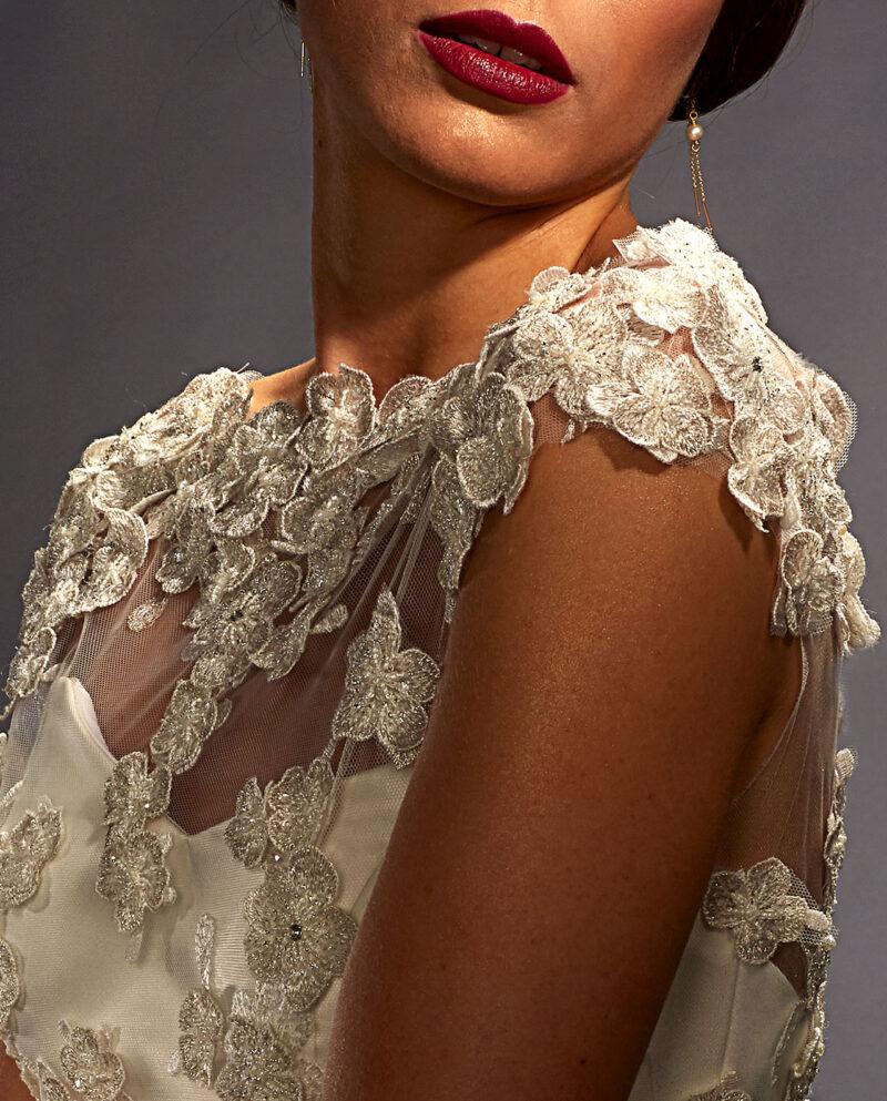 Scarlett wedding gown with Bennett Top. Weddinggown. Weddingdress. Luxury Bridal Wear. Gudnitz Copenhagen.