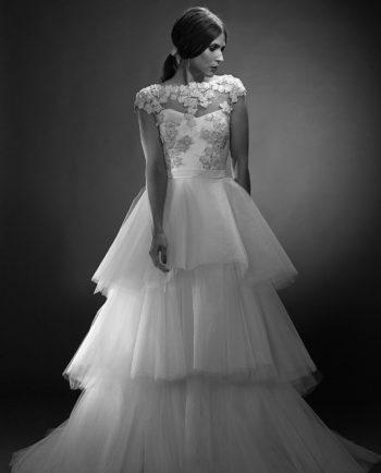 Scarlett with Bennet Top. Weddinggown. Wedding Top. Weddingaccessories. Brudetilbehør. Gudnitz Copenhagen.