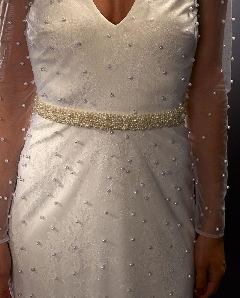 Bergman Pearl Belt. Wedding Sash. Luxury Bridal Wear. Weddingaccessories. Gudnitz copenhagen