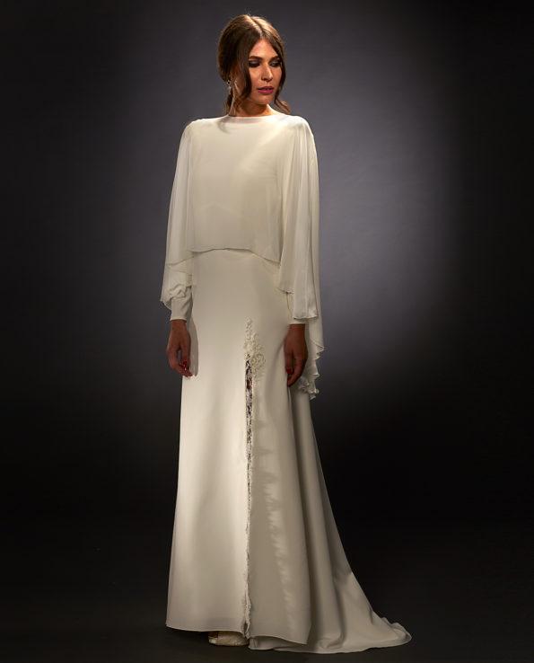 Stella with Archer Cape. Weddingdress. Brudekjoler. Brudetilbehør. Luxury Bridal Wear. Gudnitz Copenhagen