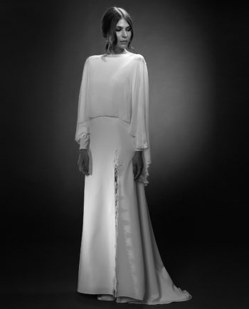 Stella with Archer Cape. Weddingdress. Brudekjoler. Brudetilbehør. Luxury Bridal Wear. Gudnitz Copenhagen