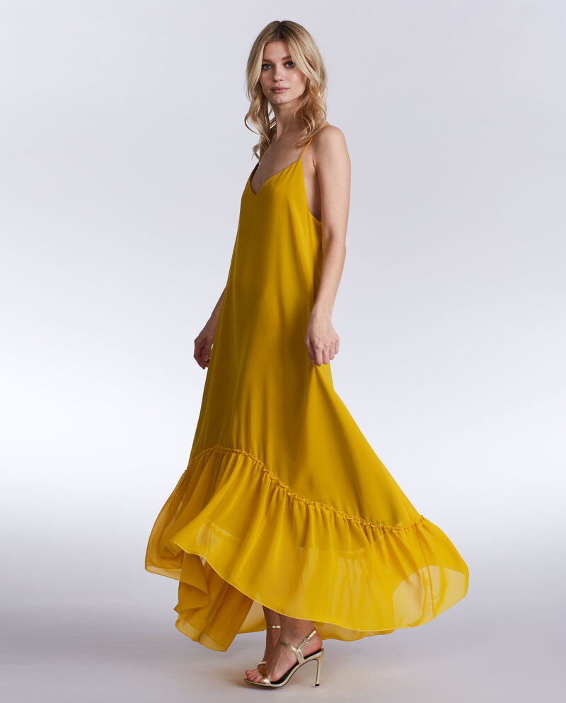 Gudnitz Copenhagen. SS02 Augusta Yellow Dress. Dress Up. Dress. Dresses. Party dress. Cocktail dress. Evening wear. Dinner dress. Party dress. Designer dress. Casual dress Summer dress. Spring dress
