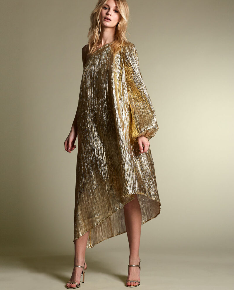 Gudnitz Copenhagen. SS20 Nova Gold Dress. Dress Up. Dress. Dresses. Party dress. Cocktail dress. Evening wear. Dinner dress. Party dress. Designer dress. Casual dress Summer dress. Spring dress