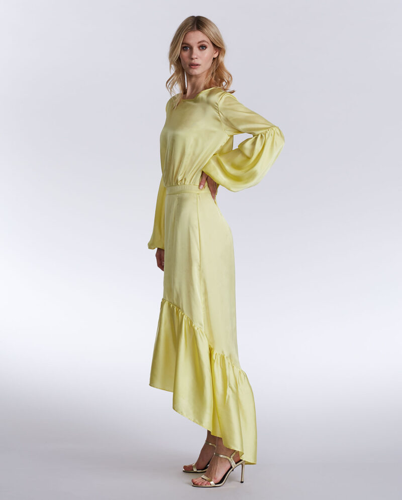 Gudnitz Copenhagen. SS18 Gaia Limeyellow Dress. Dress Up. Lime Dress. Dresses. Party dress. Cocktail dress. Evening wear. Dinner dress. Party dress. Designer dress. Casual dress. Summer dress. Spring dress