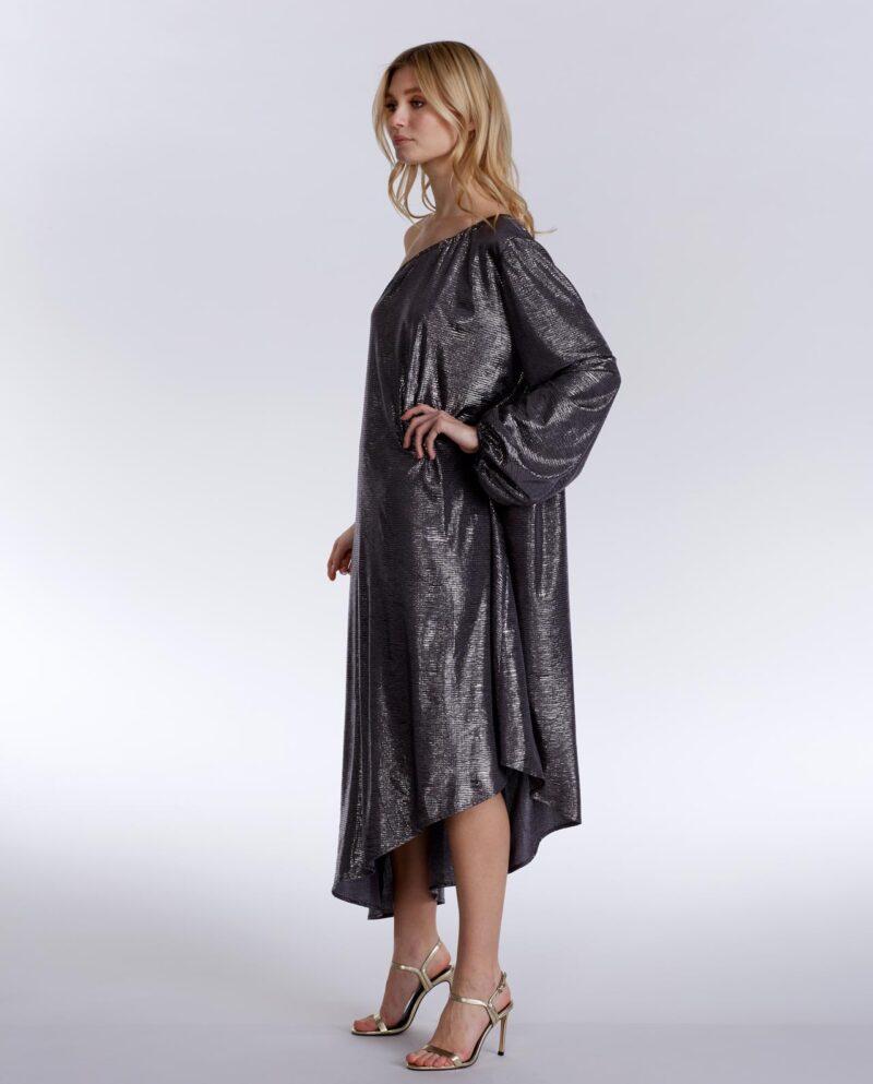 Gudnitz Copenhagen. SS20 Nova Silver Dress. Dress Up. Silver Dress. Dresses. Party dress. Cocktail dress. Evening wear. Dinner dress. Party dress. Designer dress. Casual dress Summer dress. Spring dress
