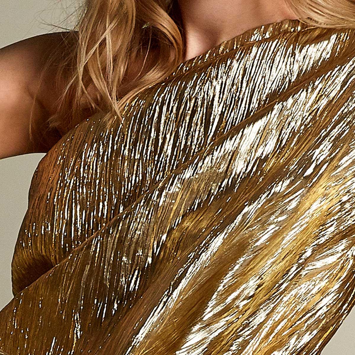Gudnitz Copenhagen. SS20 Nova Gold Dress. Dress Up. Dress. Dresses. Party dress. Cocktail dress. Evening wear. Dinner dress. Party dress. Designer dress. Casual dress Summer dress. Spring dress