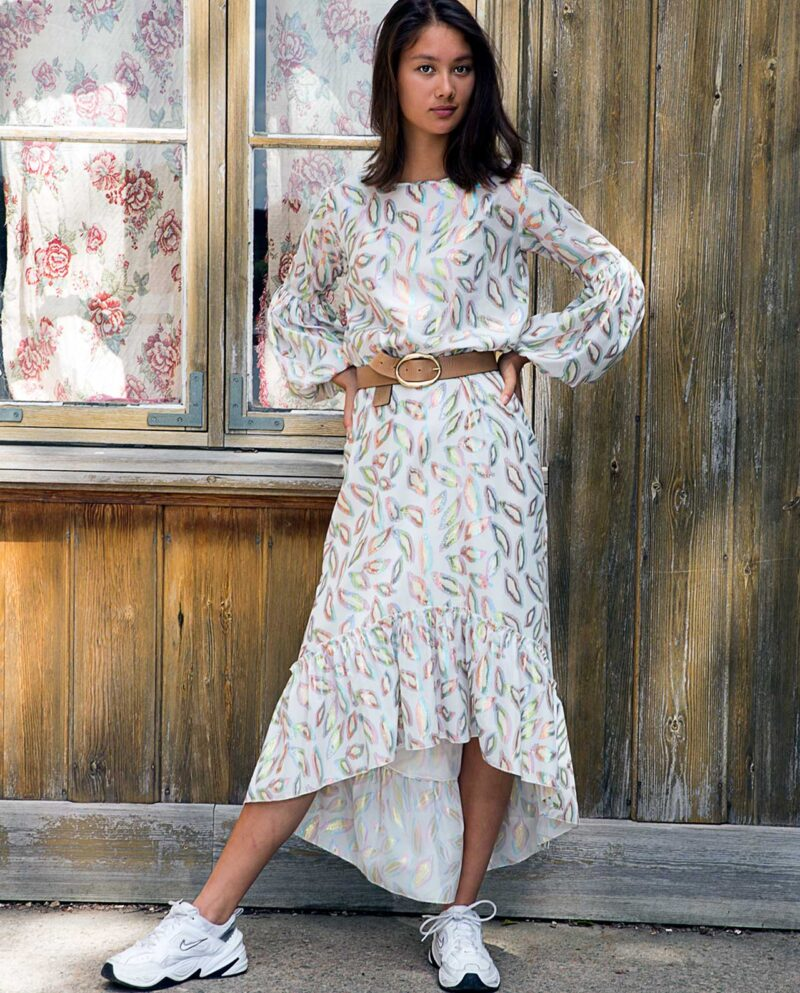 Yasmin dress with over-sized sleeves. Dress Up collection. Gudnitz Copenhagen