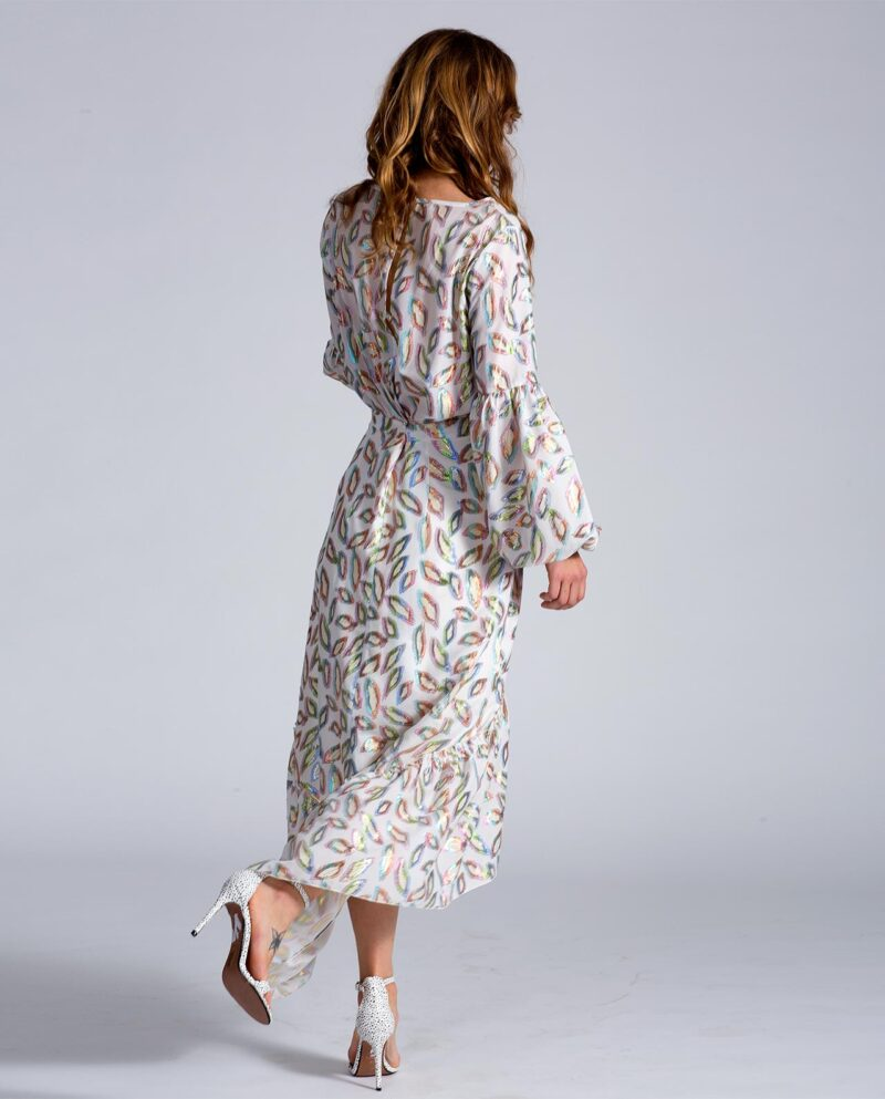 SS23_Yasmin dress with over-sized sleeves. Dress Up collection. Gudnitz Copenhagen