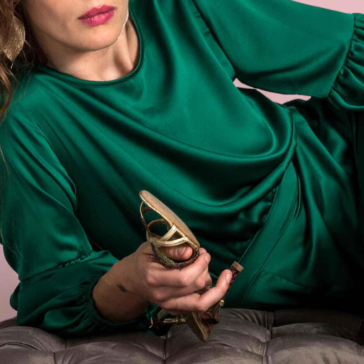 Gudnitz Copenhagen. AW31 Audrey Dress. Dress Up. Green Dress. Dresses. Party dress. Cocktail dress. Evening wear. Dinner dress. Party dress. Designer dress. Casual dress