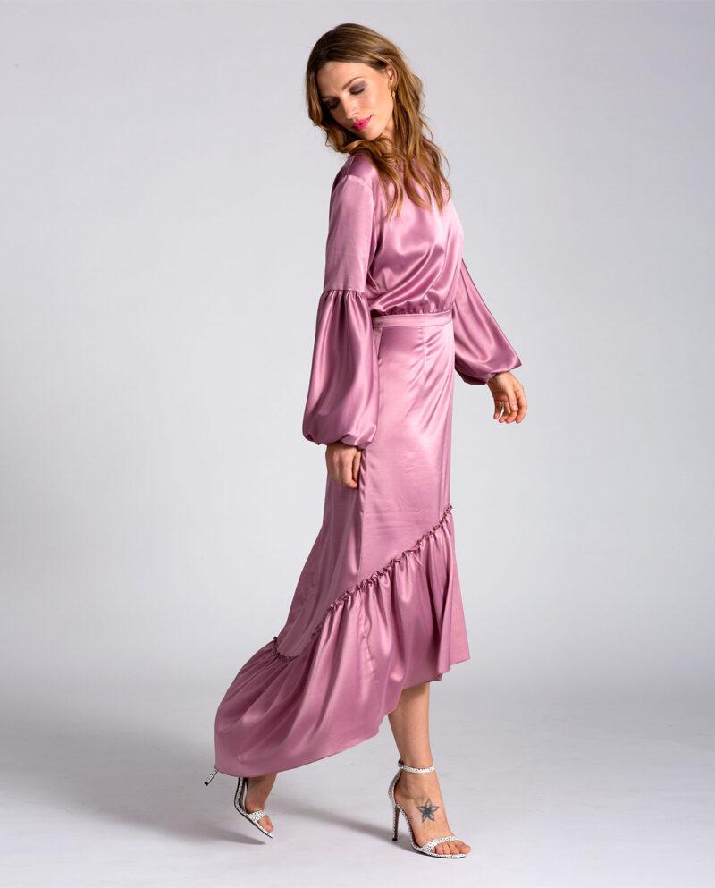 Gudnitz Copenhagen. AW32 Amelia Dress. Dress Up. Dusty rose Dress. Dresses. Party dress. Cocktail dress. Evening wear. Dinner dress. Party dress. Designer dress. Casual dress