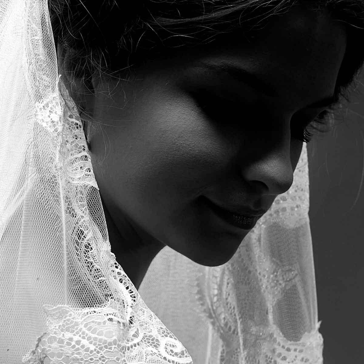 Nowak wedding veil by Gudnitz Copenhagen. Designer Rikke Gudnitz