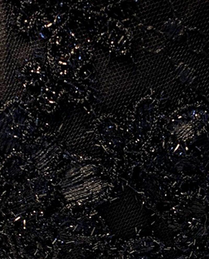 Mouthpiece black lace with metallic black thread by Gudnitz Copenhagen