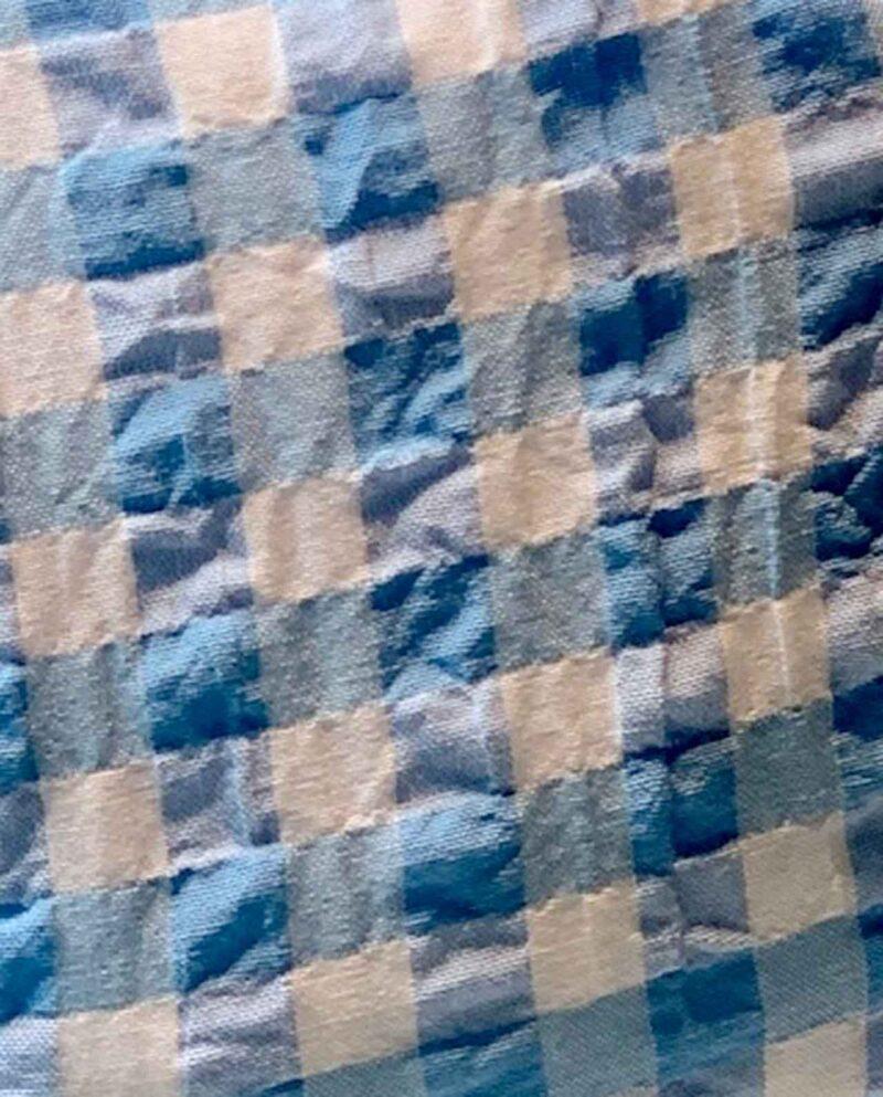 facemask checkered baby blue and white. By Gudnitz Copenhagen